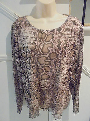 AU18.50 • Buy The Clothing Company Nwot Size 22 Beige Brown Print Lined Top