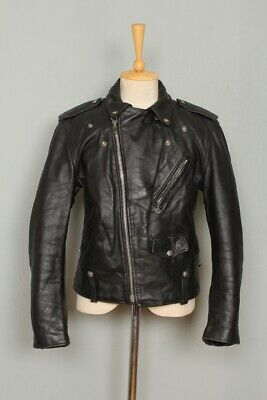 STUNNING Vtg SCHOTT PERFECTO 615 Police Leather Motorcycle Jacket 38/40 Medium • 4.20£