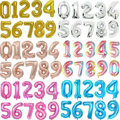 Giant Foil Number Balloons Letter Air Helium Birthday Age Party Wedding 32  40  • 4.59£