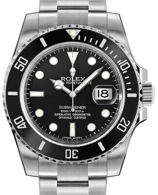 $ CDN17390.08 • Buy Rolex NEW Submariner Date 40mm Steel Ceramic Mens Watch Box/Papers 116610