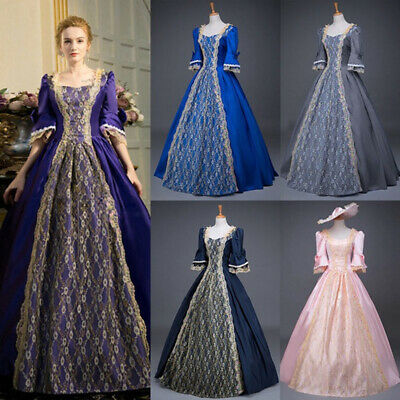 £28.74 • Buy Medieval Victorian Women Lace Half Sleeve Ball Gown Dress Party Palace Cosplay