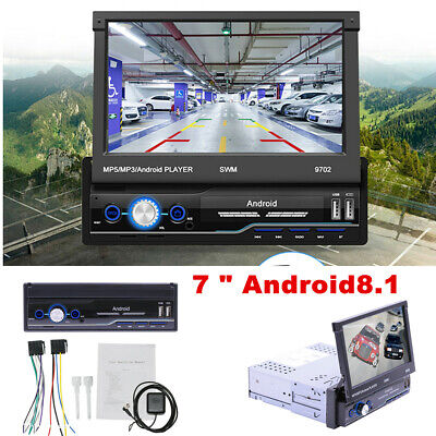 AU182.38 • Buy   Single 1Din Android 8.1 Flip Car Stereo Radio 7in Touch Screen MP5 Player GPS