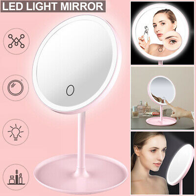 Touch Magnifying LED Illuminated Bathroom Make Up Cosmetic Vanity Mirror Lights • 13.27£
