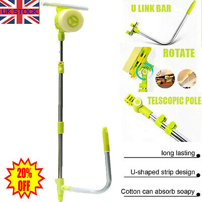 Window Brush Telescopic High Rise Glass Cleaner Windows Washing Cleaning Tools • 18.88£