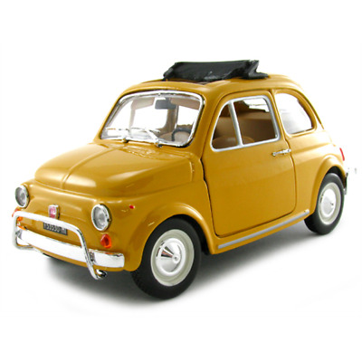 Burago 22099Y Yellow Fiat 500L 1968 1/24th Scale Diecast Model Tracked 48 Post • 18.99£