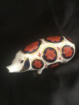 Royal Crown Derby Pig Paperweight Ceramic Stopper • 2.60£