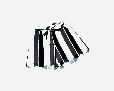 Striped Self Tie Flared Summer Shorts Breathable • 12.99£
