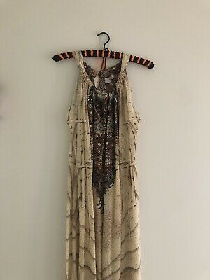 AU150 • Buy CAMILLA FRANKS Drawstring Silk Embellished Long Dress One Size Fits Most