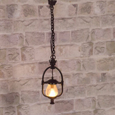 1/12 Scale Dolls House Emporium Victorian 'Gas' Hanging Ceiling Light 12V 2514 • 12.95£