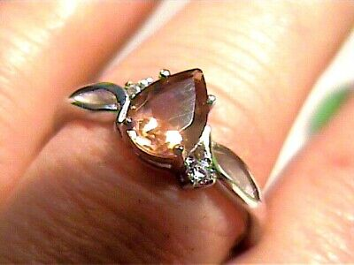 AU133.24 • Buy Sterling 925 Silver Ring Russian Alexandrite 10 Small Dainty Color Change Pear