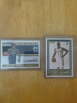 $8.50 • Buy Zion Williamson (2) Card Rookie Lot! DUKE- New Orleans Pelicans- HOT!
