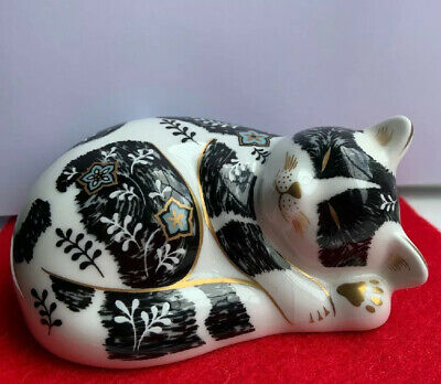 Royal Crown Derby Paperweight Misty The Cat • 36£