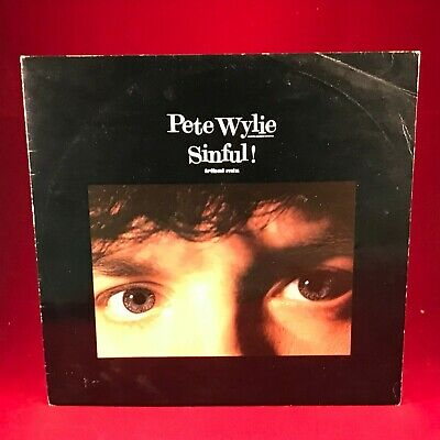 PETE WYLIE Sinful! The Wickedest Mix 1986 UK 12  Vinyl Single EXCELLENT CONDIT A • 7.99£