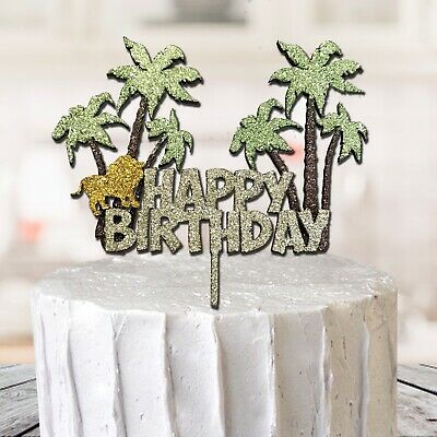 £6.99 • Buy 3D Jungle Themed Animal Cake Topper Cupcake Party Decoration Birthday Glitter