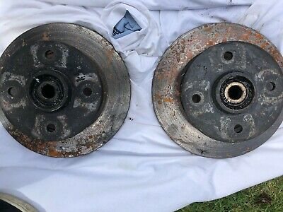 Ford Cortina Mk2 Front Discs,hubs,complete With Bearings Done 300 Miles • 50£