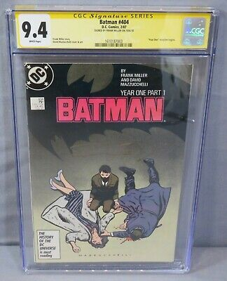 BATMAN #404 (Frank Miller Signed, 1st Catwoman, Year One) CGC 9.4 NM DC 1987 • 215£