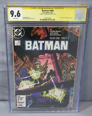 BATMAN #406 (Frank Miller Signed, Year One Part 3) CGC 9.6 NM+ DC Comics 1987 • 115.17£