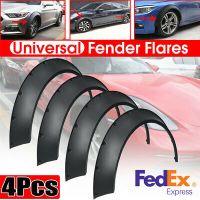 $65.17 • Buy Universal 4Pcs 840mm Flexible Fender Flares Body Kit Over Wide Body Wheel Arches