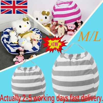 EXTRA LARGE Stuffed Animal Toy Storage Bean Bag Bean Cover Soft Seat Children W • 7.79£