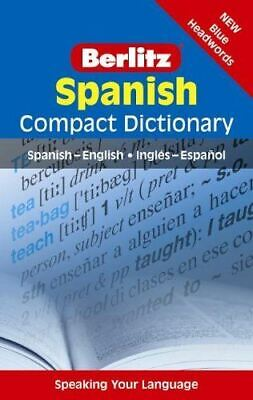 Berlitz Compact Dictionary Spanish Latest Edition • 6.34£