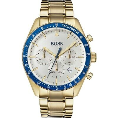 Men's Hugo Boss Gold Trophy Watch - Hb1513631 • 103£