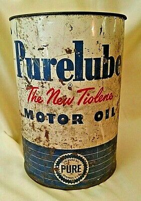 $ CDN33.24 • Buy Purelube Motor Oil Can 5 Quart Pure Oil Company Usa Empty No Lid Vintage Large.