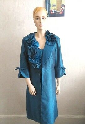 £40 • Buy Elegant Turquoise Green Frock Coat And Dress Suit 12