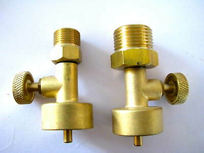 Jewelers Little Torch Canister Valves To CGA 200 & CGA 540 Propane & Oxygen Regs • 26.44£