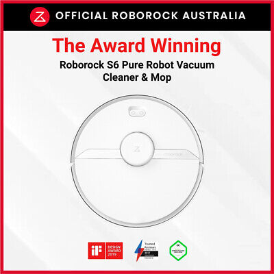 AU799 • Buy BRAND NEW Roborock S6 Pure Smart Robot Vacuum & Mop Cleaner 2020 Aus Model