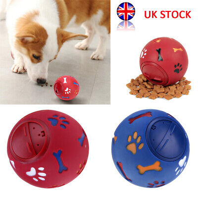 Pets Dog Puzzle Toy Tough-Treat Ball Food Dispenser Interactive Puppy Feeder UK • 4.99£