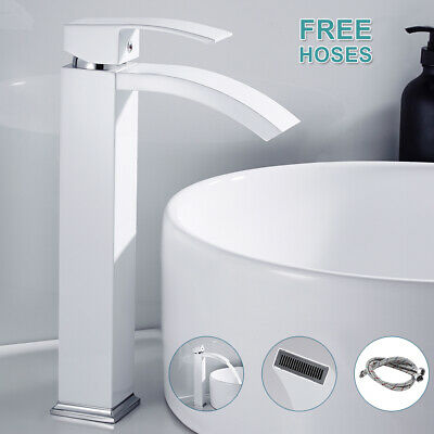 Modern Bathroom Counter Taps Basin Sink Mixer Tap Counter Top Cloakroom Faucet. • 36.89£