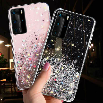AU10.89 • Buy Sparkle Bling Glitter Soft Case Cover For Huawei P40 Y7 Y6 2019 P Smart 2019