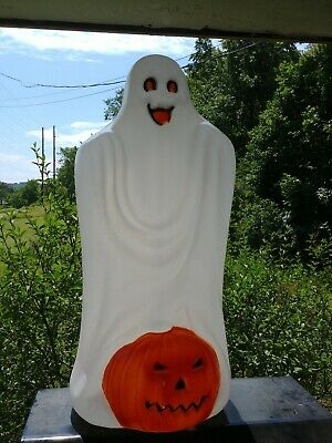 $34.99 • Buy Vintage Halloween 33  TPI Ghost With Pumpkin Blow Mold Yard Decoration