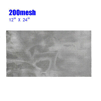 200Mesh 75Micron 304 Stainless-Steel Pollen Dry Ice Filtration Screen 30X60CM • 4.81£