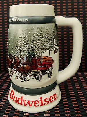 $ CDN29.99 • Buy Budweiser 50th Anniversary Clydesdale's Holiday Beer Stein Mug 1933-1983