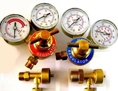 Jewelers Propane & Oxygen 4  Regulators & Canister Valves - Smith Torch TYPE  • 70.81£