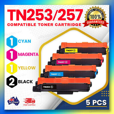 AU98 • Buy 5x TN253 TN257 Toner For Brother DCP-L3510CDW MFC-L3750CDW MFCL3770CDW L3745CDW