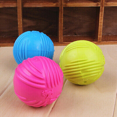 £3.32 • Buy Pet Dog Training Chew  Fetch Bite  Indestructible Solid Rubber Ball Call