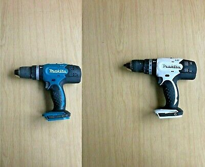 Makita DHP453 Cordless Combi Hammer Drill Driver 18v Body Only GREEN/WHITE • 35.99£