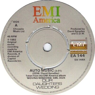 £3.49 • Buy Our Daughters Wedding – Auto Music  (Synth-pop) 7  Vinyl 45rpm