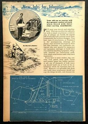 AU8.87 • Buy Front End Loader - Tractor Scoop - Bucket Lift 1946 How-To Design Build PLANS