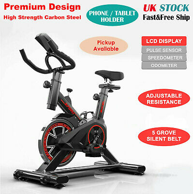 Exercise Spin Bike Home Gym Bicycle Cycling Cardio Fitness Training Workout Bike • 158.99£