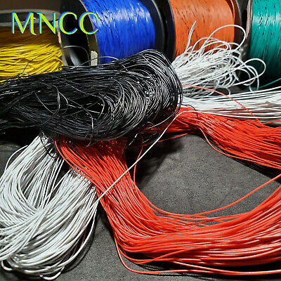 AU9.99 • Buy 1m~10m 32AWG 30V PVC Insulated 7x.07mm Core Tinned Copper Bell Wire 0.6mm UL1015