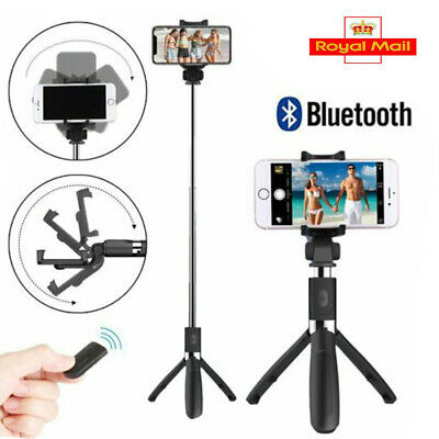 Remote Bluetooth Selfie Stick Extendable Telescopic Phone Stand Monopod Tripod • 9.59£