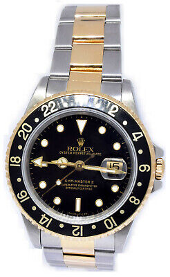 $ CDN13082.51 • Buy Rolex GMT-Master II 18k Yellow Gold & Steel Mens Vintage Watch S 16713