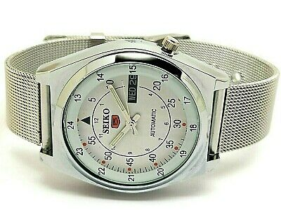 $ CDN38.91 • Buy Seiko 5 Automatic Men's Steel Railway Time Day/date Vintage Japan Watch Run