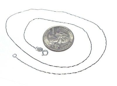 $39.99 • Buy 10Kt White Gold 16 Inch .45MM BOX Chain .....W/Gift Box - Free Shipping!