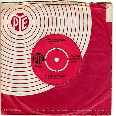 THE HONEYCOMBS - HAVE I THE RIGHT B/w PLEASE DON'T PRETEND AGAIN, 1964 PYE RGM • 5.99£