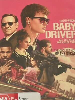 AU7.95 • Buy Baby Drive  Kevin Spacey Ansel Elgort Jamie Foxx DVD Like New