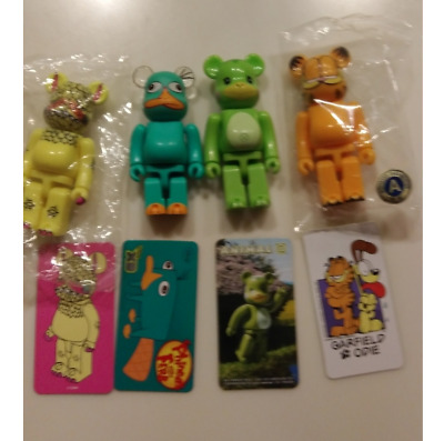 $98 • Buy BE@RBRICK 100% Garfield S36 + S26 Perry The Platypus + 2 Lot Of 4 Medicom Toy